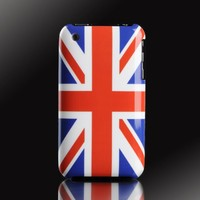 "English Flag, England UK ""Patriot Series"" polycarbonate UV case cover for Apple iPhone 3G & 3GS"