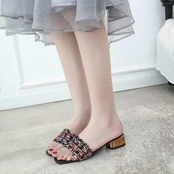 Summer Fashion Women Leather Shoes Girl Sandals