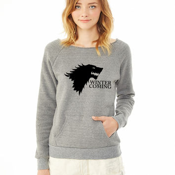 Stark Sigil and Motto ladies sweatshirt