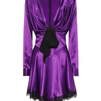 Silk-satin minidress