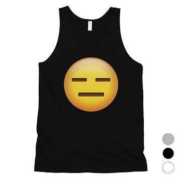 Emoji-Emotionless Mens Whatever Empty Funny Tank Top Friend Gift