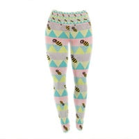"Louise Machado ""Little Bee"" Pastel Chevron Yoga Leggings"