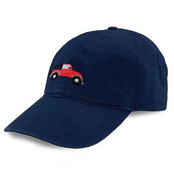 Beach Truck Needlepoint Hat in Navy by Smathers & Branson