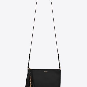 yves st lauret - yves saint laurent small monogram - serpent fringe suede crossbody ...