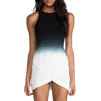bless'ed are the meek Gradient Dress in Black