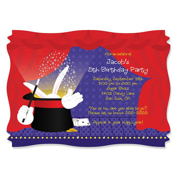 Magic - Personalized Birthday Party Invitations