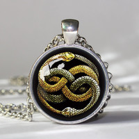 The NeverEnding Story Necklace , Never ending story bastian atreyu gmork falkor fantasia   pendant