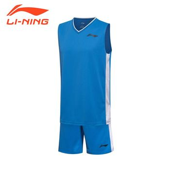 Li-Ning Men's Basketball Jersey Competition Uniforms Suits Breathable Sleeveless