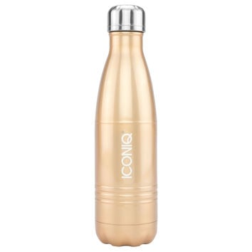 ICONIQ 17oz Champagne Gold Water Bottle - Stainless Steel Vacuum Insulated