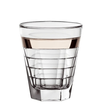 Majestic Gifts E64327-S6 Quality Glass Double Old Fashioned Tumbler with Platinum Band 11.5 oz. Set of 6