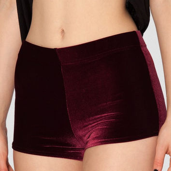 EAST KNITTING X-064 Velvet Wine Red Bummers High Waist women Fashion shorts  S M L XL PLUS SIZE