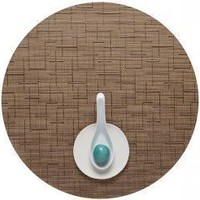 CHILEWICH Bamboo Round Placemat S/4 | Amber