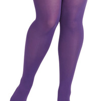 ModCloth Rudimentary My Dear Tights in Purple - Plus