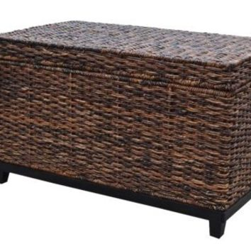 Brown Wicker Storage Trunk Coffee Table From Amazon Bedroom