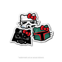 Pack Set of 3 Stickers Storm Kitty Darth V Kitty and by hellowars