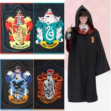 High Quality Children And Adult Size Harry-Potter Cosplay Costume Gryffindor Hufflepuff Ravenclaw Slytherin Cloak Robe + Tie Set