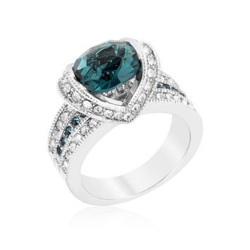 Ovaline Blue Ring, size : 08