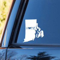 Rhode Island Home Decal | Rhode Island Decal | Homestate Decals | Love Sticker | Love Decal  | Car Decal | Car Stickers | 079