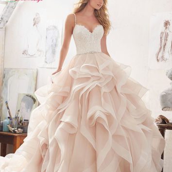 Dream Angel Sexy Sweetheart A Line Ruffles Wedding Dress 2017 Appliques Beaded Sashes Ruched Vintage Vestido De Noiva Plus Size