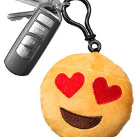 Emoji Keychains: Tiny pocket-size pillows stuffed with character