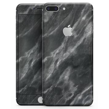 Black and Chalky White Marble - Skin-kit for the iPhone 8 or 8 Plus