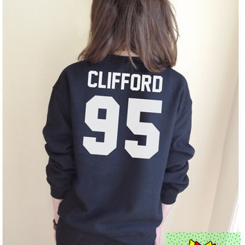 Clifford 95 Jumper Unisex Black or Grey S M L Tumblr Instagram Blogger