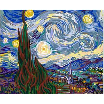 The famous abstract oil painting Van Gogh coloring by numbers cuadros decor wall art on canvas pictures for living room Y080