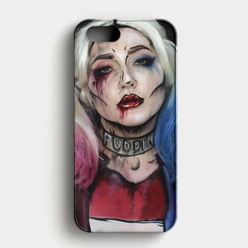 Harley Quinn Art iPhone SE Case