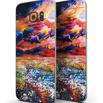 Oil Painted Meadow - Full Body Skin-Kit for the Samsung Galaxy S7 or S7 Edge