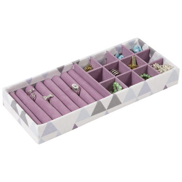 12 Section Jewelry Drawer Tray Accessory Organizer with Ring Holder