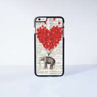 Cute Elephant With Flying Ballon Plastic Case Cover for Apple iPhone 6 Plus 4 4s 5 5s 5c 6