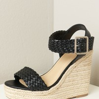 Classic Braided Wedge Black