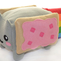 Nyan Cat BIG Kawaii Plush Toy - Loaf Shape , Cube / Pillow / Cushion / Geekery Rainbow Pop Tart Kawaii