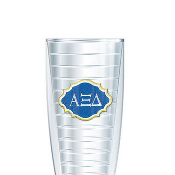 Alpha Xi Delta Tumbler -- Customize with your monogram or name!