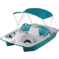 Sun Dolphin, Sun Slider 5-Person Pedal Boat with Canopy, 72143 at The Home Depot - Tablet