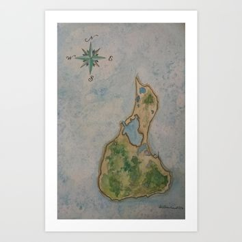 Block Island Art Print by DJ Beaulieu