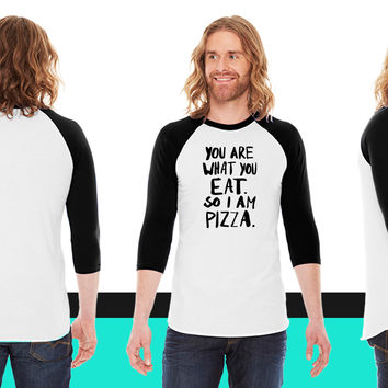 I am Pizza American Apparel Unisex 3/4 Sleeve T-Shirt