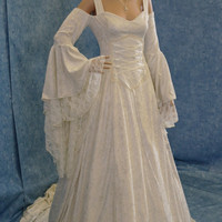 Renaissance medieval handfasting  wedding dress fairy custom made