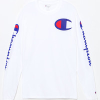 Champion Script White Long Sleeve T-Shirt at PacSun.com