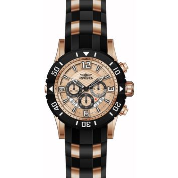 Invicta Men's 23708 Pro Diver Quartz Chronograph Rose Gold Dial Watch