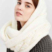 Boucle Cable Hooded Eternity Scarf