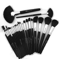 Amazon.com: Flawless Look Makeup Brush Set Professional 24 piece Collection & Case Plus Bonu...