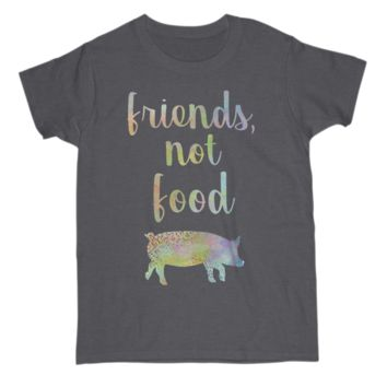 Funny Gift For Vegetarian Lover Womens T Shirt Friends Not Food