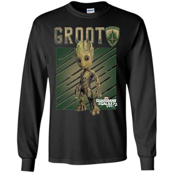 Marvel Guardians Vol. 2 Baby Groot Shield Graphic T-Shirt shirt