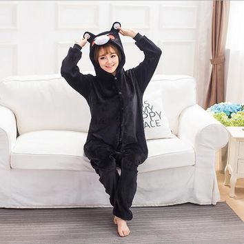 Hot Sale Women's Animal Bear Pajama Female Full Sleeve Hooded Pajama Sets Footed Pyjamas For Adults Animal Pajamas One Piece