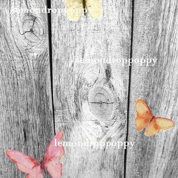 Digital photo backdrop download aged wood printable digital photo prop digital background wood paper artwork butterfly nature backdrop