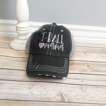 T-ball mama hat, mama style hat - baseball cap , gift for mom