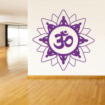 rvz1393 Wall Decal Vinyl Sticker Decals Buddha India Indian Om Ganesh God Yoga