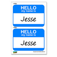 Jesse Hello My Name Is - Sheet of 2 Stickers