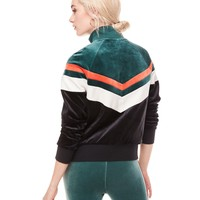 COLORBLOCK LIGHTWEIGHT VELOUR PALISADES JACKET